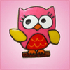 Pink Ollie Owl Cookie Cutter