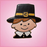 Pink Palmer Pilgrim Boy Cookie Cutter