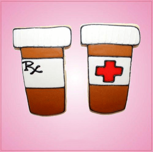 Pink Pill Bottle Cookie Cutter