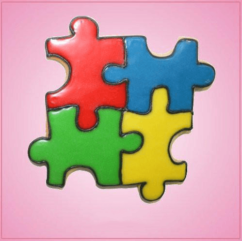 Pink Puzzle Cookie Cutter