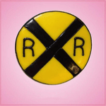 Pink Railroad Sign Cookie Cutter