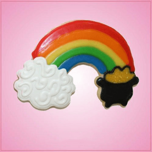 Pink Rainbow With Pot Of Gold Cookie Cutter