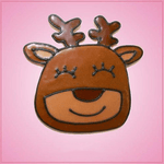 Pink Ralph Reindeer Face Cookie Cutter