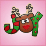 Pink Reindeer Joy Cookie Cutter