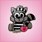 Pink Robbie Raccoon Cookie Cutter