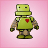 Pink Roger Robot Cookie Cutter