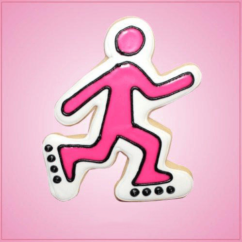 Pink Roller Skate Guy Cookie Cutter