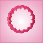 Pink Round Scalloped Cookie Cutter
