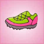 Pink Running Shoe Cookie Cutter