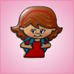 Pink Sabrina School Girl Cookie Cutter
