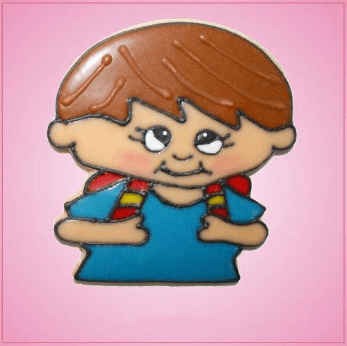 Pink Samuel Student Boy Cookie Cutter
