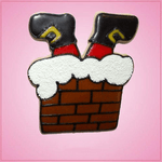 Pink Santa Stuck in Chimney Cookie Cutter