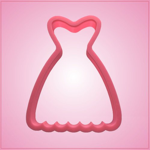 Pink Scalloped Dress Cookie Cutter