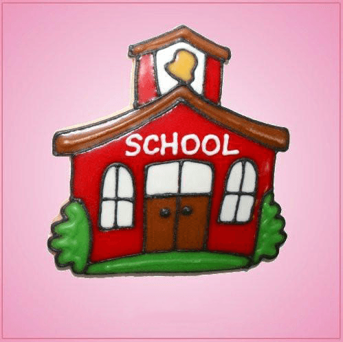 Pink School House Cookie Cutter