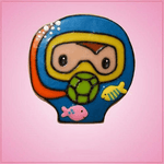 Pink Scuba Diver Cookie Cutter