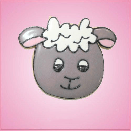 Pink Shelly Sheep Cookie Cutter