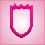 Pink Shield Cookie Cutter