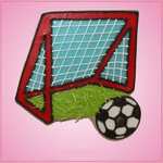 Pink Soccer Goal Cookie Cutter