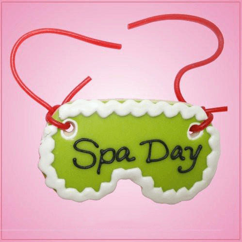 Pink Spa Mask Cookie Cutter