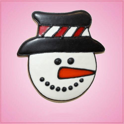 Pink Stephen Snowman With Hat Cookie Cutter
