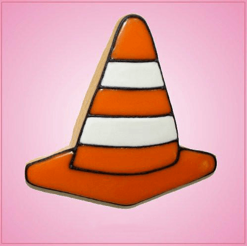 Pink Street Cone Cookie Cutter