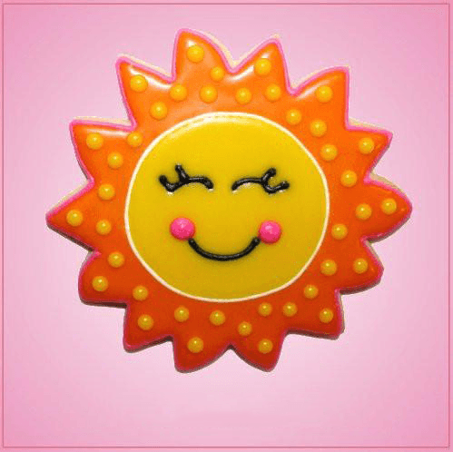 Pink Sun Cookie Cutter