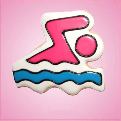 Pink Swimmer Cookie Cutter