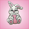 Pink Tami The Lop Eared Bunny Cookie Cutter