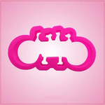 Pink Tandem Bicycle Cookie Cutter
