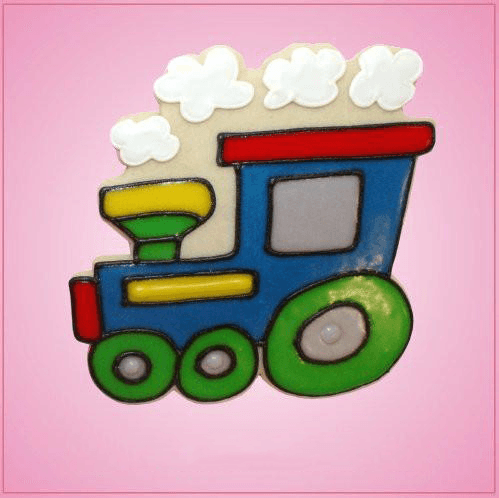 Pink Train With Clouds Cookie Cutter