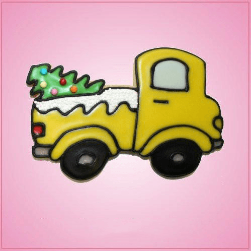 Pink Truck With Tree Cookie Cutter