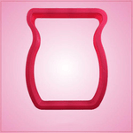 Pink Vase Cookie Cutter