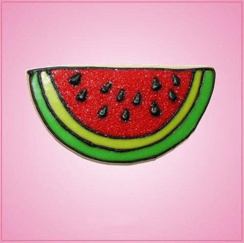 Pink Watermelon Slice Without Bite Cookie Cutter