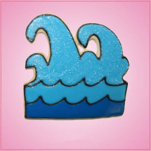 Pink Wave Cookie Cutter