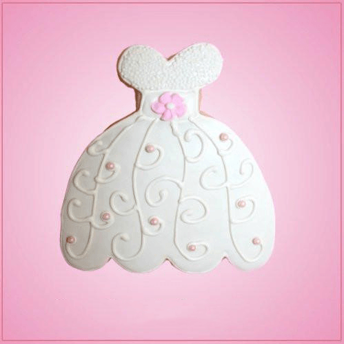 Pink Wedding Dress Cookie Cutter
