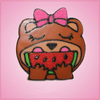 Pink Wendy Watermelon Eating Bear Cookie Cutter