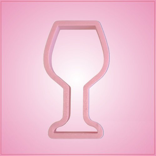 Pink Wine Glass Cookie Cutter