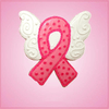 Pink Butterfly Winged Cancer Ribbon Cookie Cutter