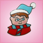 Pink Winter Child Elf Cookie Cutter