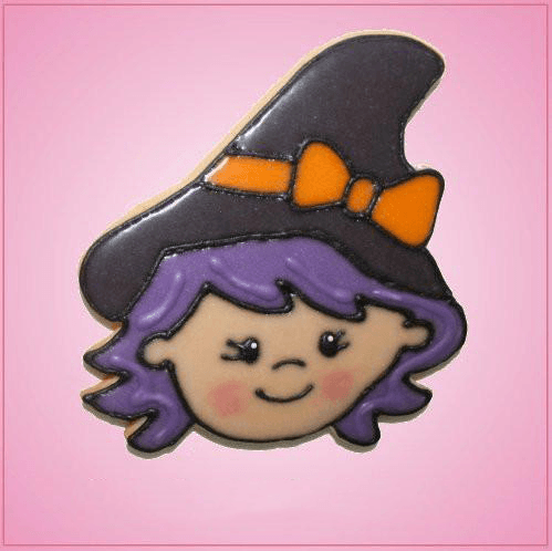 Pink Witch Head Jessica Cookie Cutter
