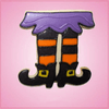Pink Witch Legs Cookie Cutter