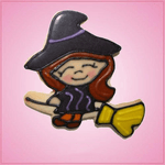 Pink Witch On Broom Cookie Cutter