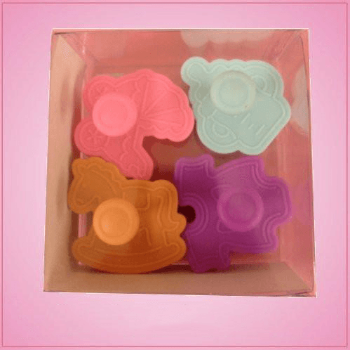 Plunger Style Baby Cookie Cutter Set