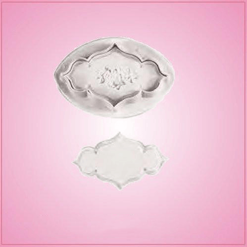 Plunger Style Rose Plaque Cookie Cutter