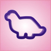 Purple Brontosaurus Cookie Cutter