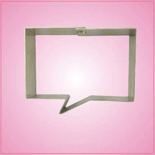 Mini Rectangle Speak Bubble Cookie Cutter