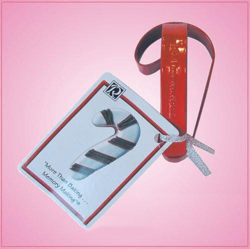 Red Candy Cane Cookie Cutter With Handle