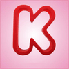 Red Letter K Cookie Cutter