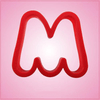 Red Letter M Cookie Cutter