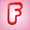 Red Letter F Cookie Cutter